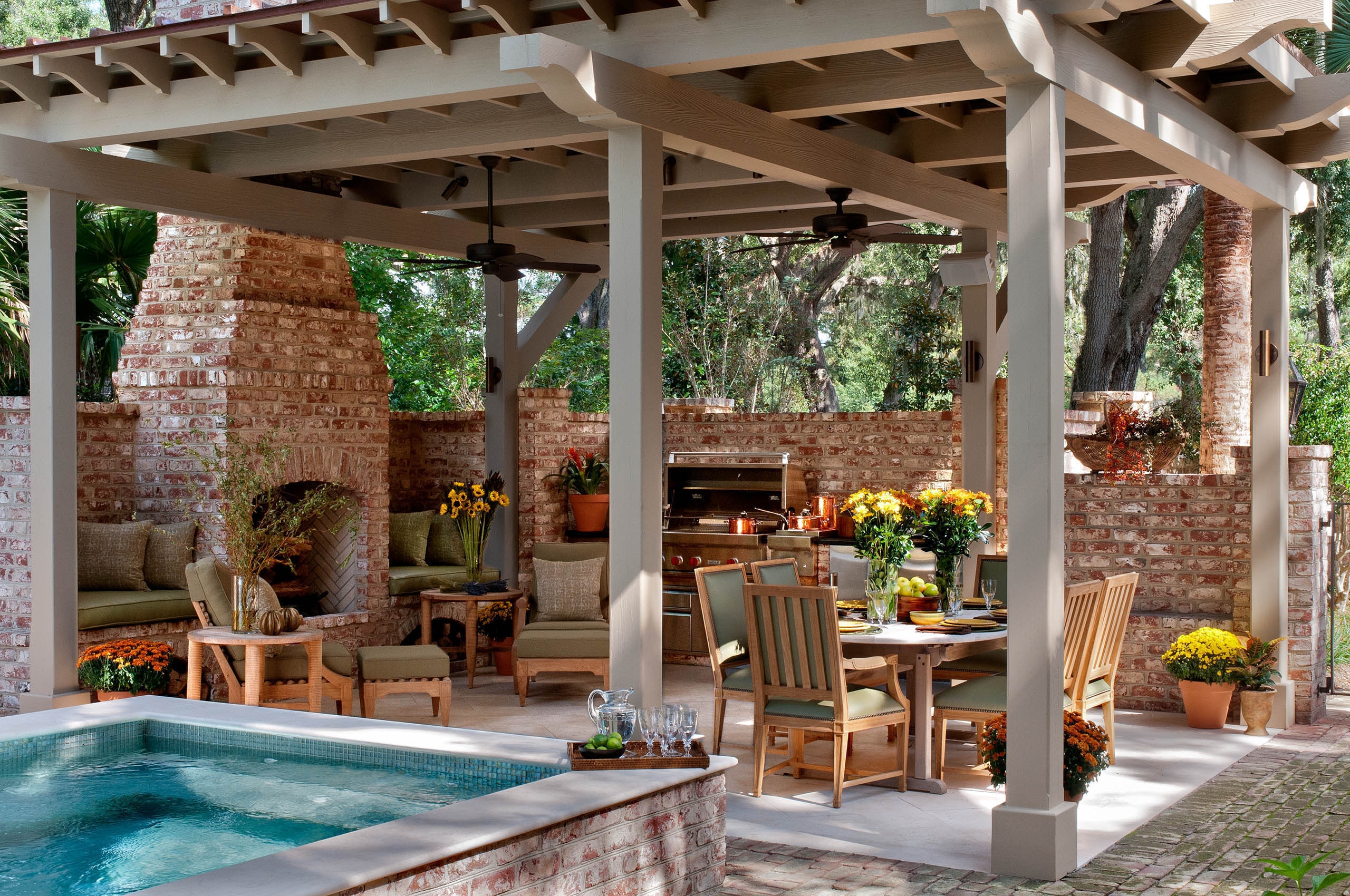 South Carolina Residence Outdoor Dining, ForrestPerkins Design Associates