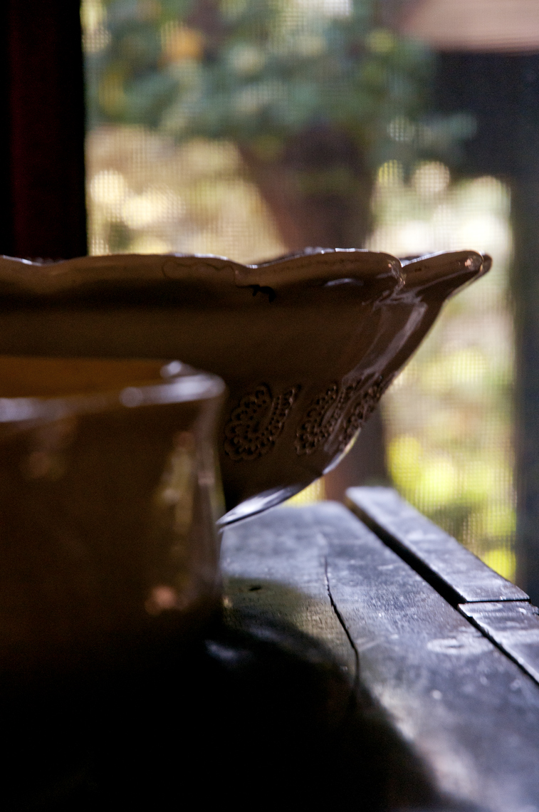 Ceramic Bowls at Window
