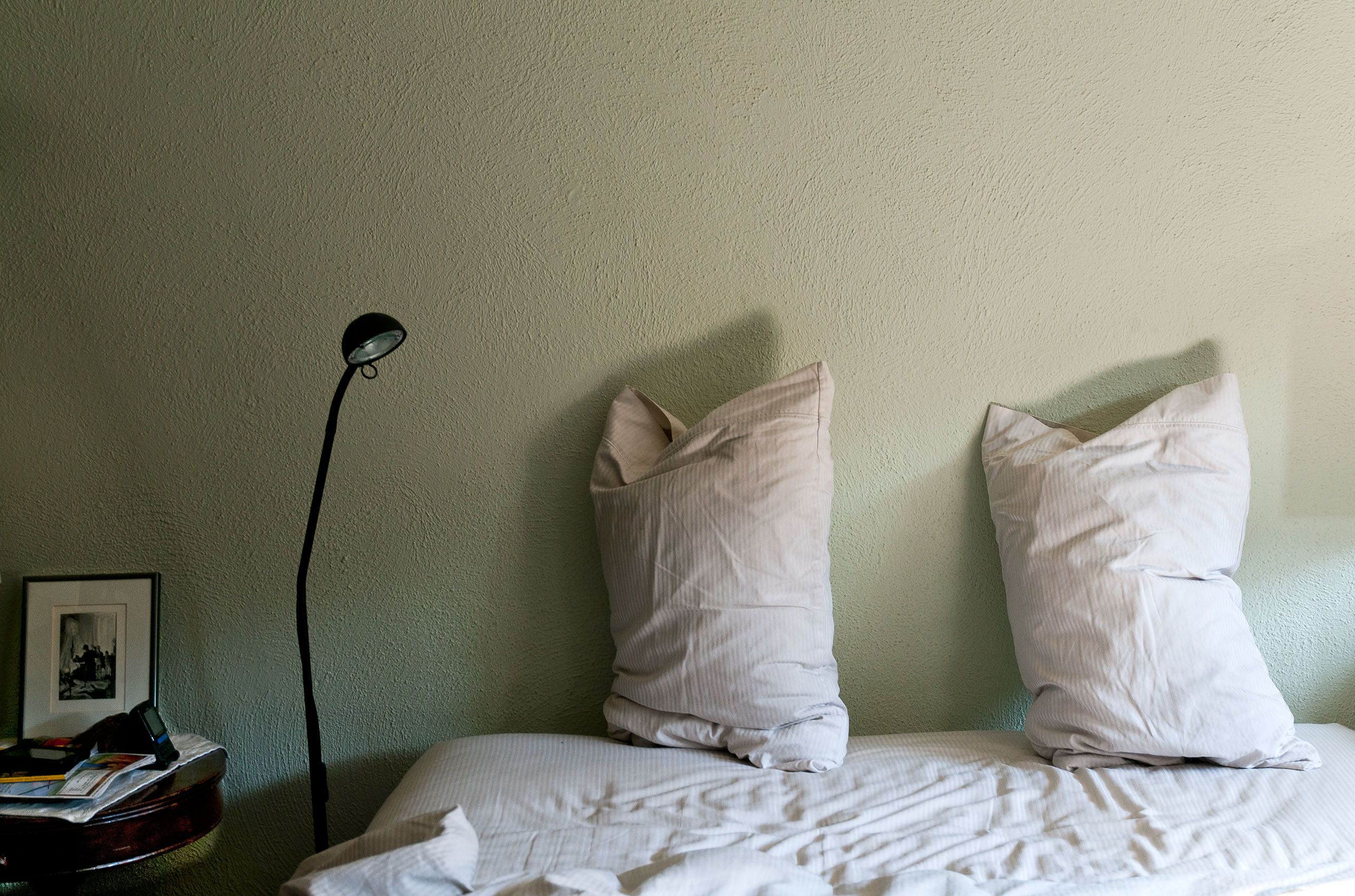Pillows Airing on Bed
