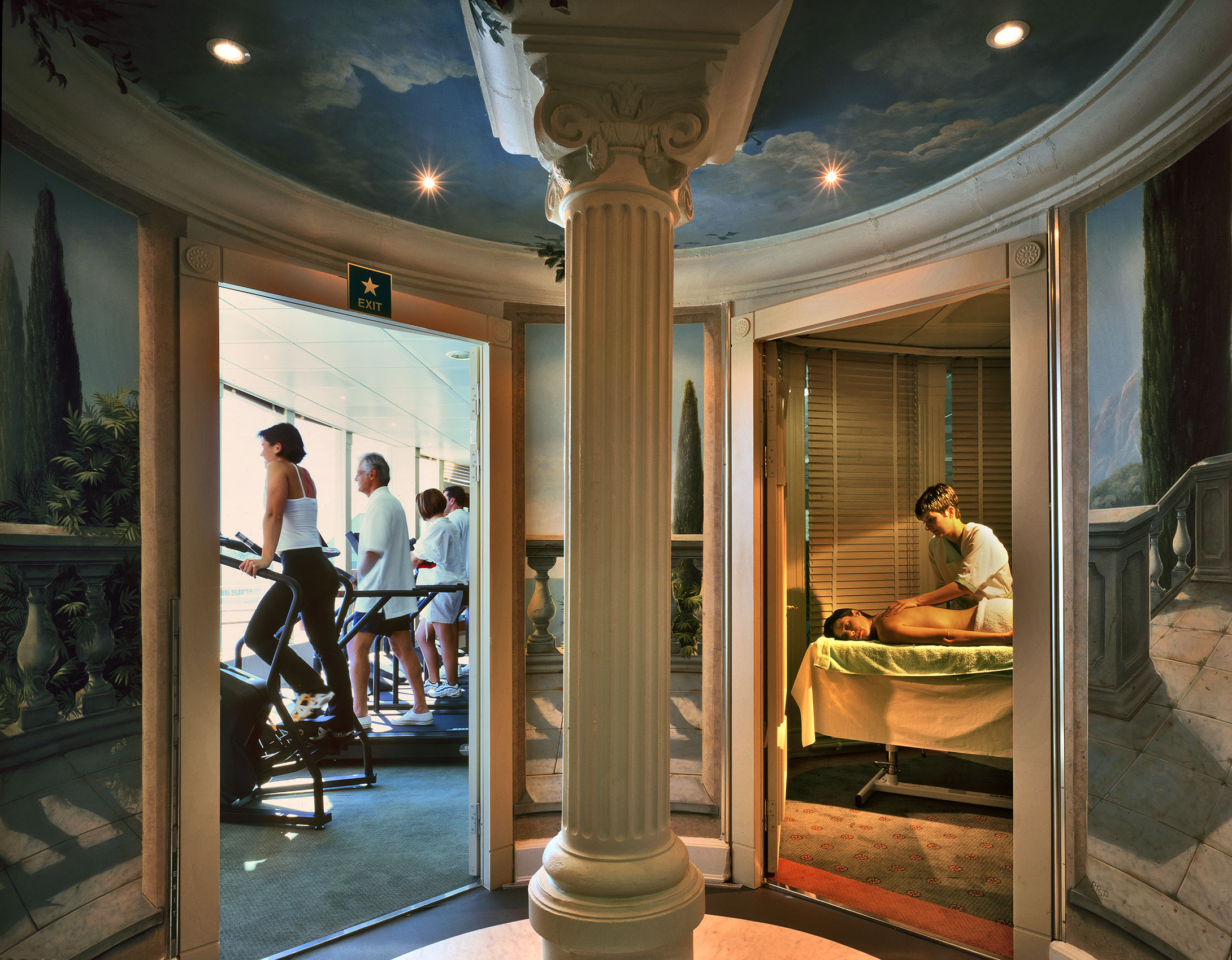 Spa and Gym on board Ship, Seabourn Cruise Line