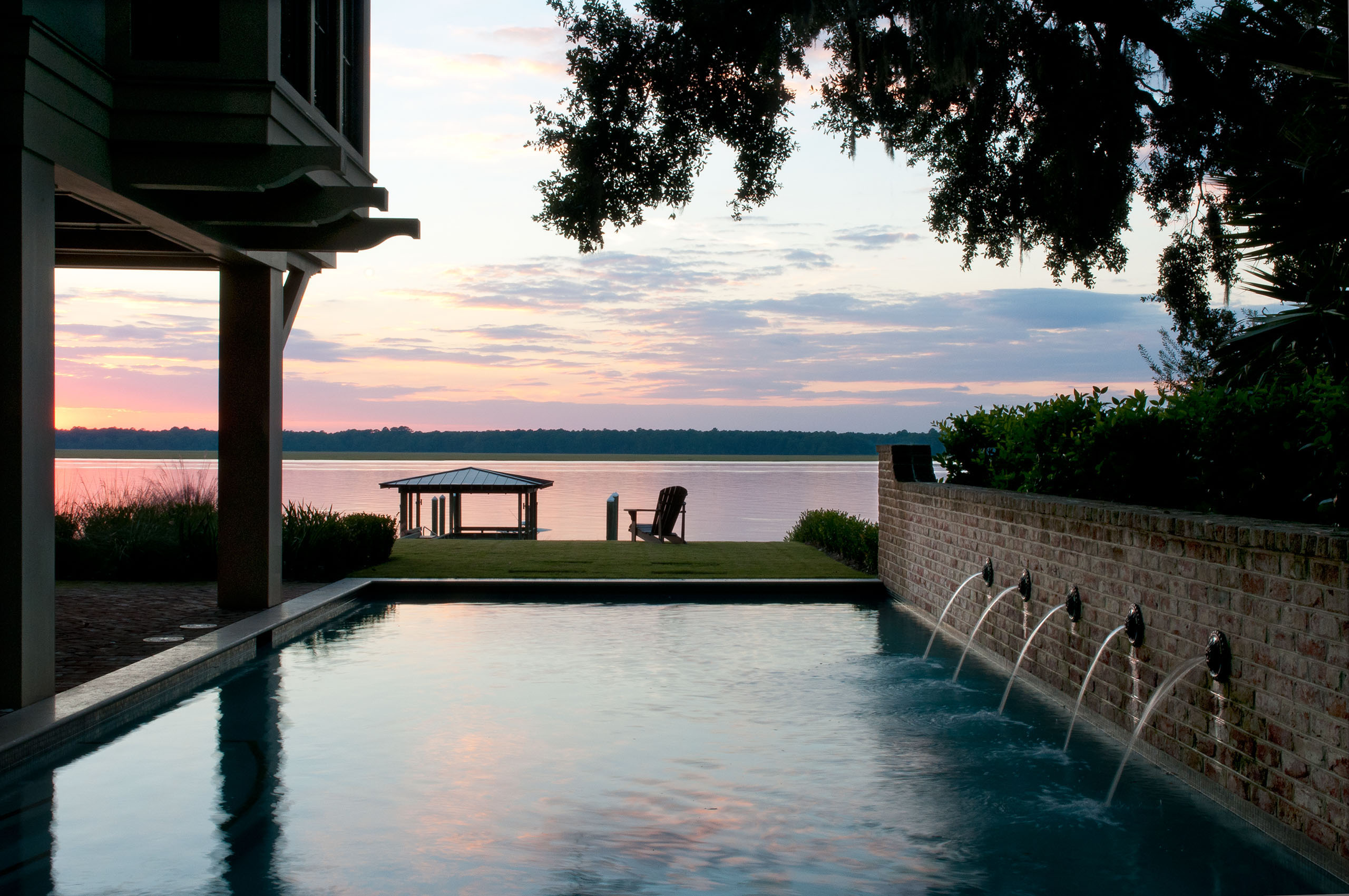 South Carolina Residence Pool and River View